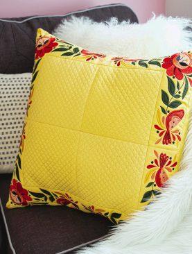Скошенные бордюры для подушки