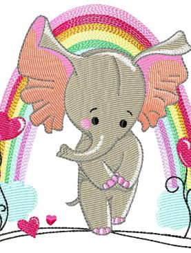 Резвящиеся слоны Комбинация  Набор 1 и Набор 2